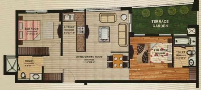 APS Shilpayan K7 (2BHK+2T (1,250 sq ft) Apartment 1250 sq ft)
