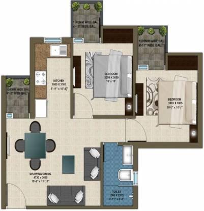 Krish Aura (2BHK+1T (820 sq ft) Apartment 820 sq ft)
