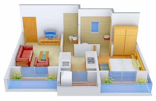 Tirupati Kasturi Vandana (1BHK+2T (665 sq ft) Apartment 665 sq ft)