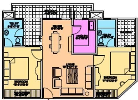 Sheoran Sheoran Residency (2BHK+2T (1,115 sq ft) Apartment 1115 sq ft)