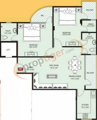 Vardhman Vardhman Residency (2BHK+2T (1,215 sq ft) Apartment 1215 sq ft)