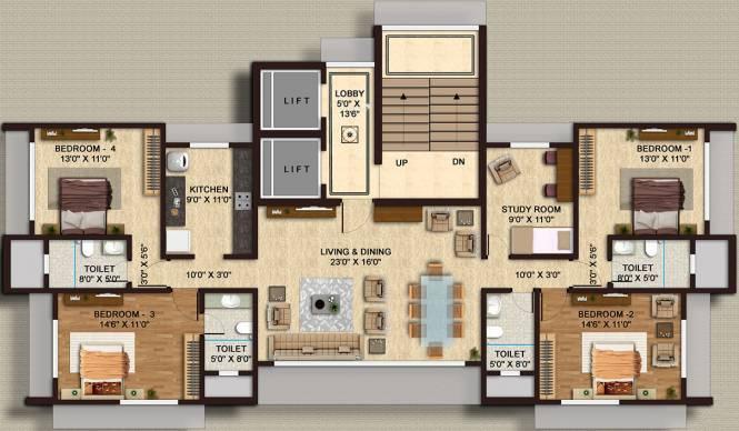 Shamiks Mangal Kutir (4BHK+4T (1,562 sq ft)   Study Room Apartment 0 sq ft)