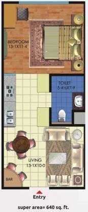 Sarvottam KSN Coziome (1BHK+1T (640 sq ft) Apartment 640 sq ft)