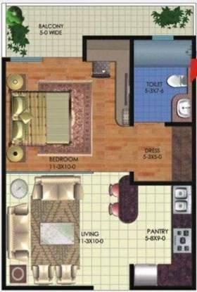 Sarvottam KSN Coziome (1BHK+1T (690 sq ft) Apartment 690 sq ft)