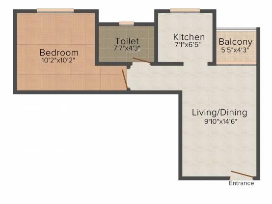 Sobha Serene (1BHK+1T (598 sq ft) Apartment 598 sq ft)