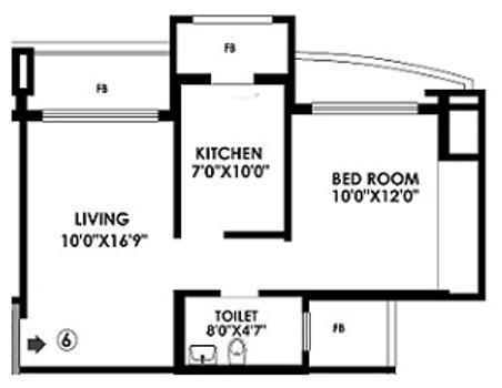 K Raheja Raheja Residency K Raheja Raheja Residency (1BHK+1T)