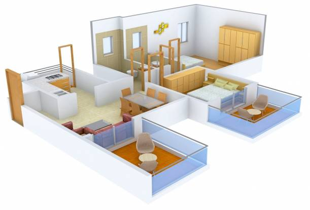 Eisha Zenith (2BHK+2T (1,143 sq ft) Apartment 1143 sq ft)
