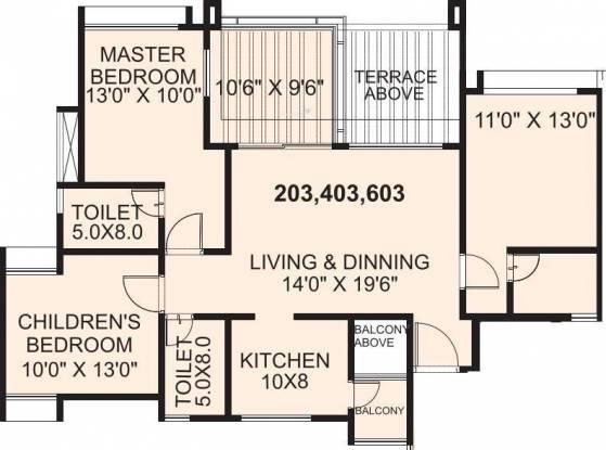 Eisha Zenith (3BHK+3T (1,390 sq ft) Apartment 1390 sq ft)