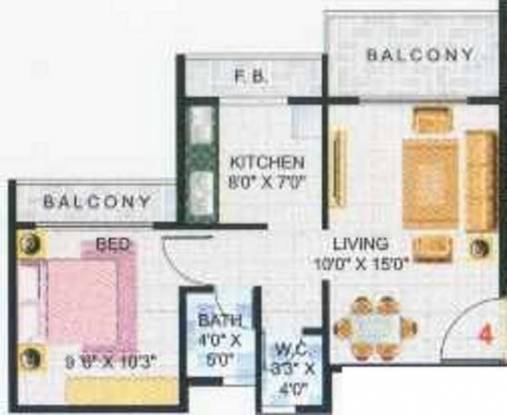 Raikar Group Yashodeep Height Raikar Group Yashodeep Height (1BHK+1T)