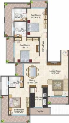 JP Hari Mangal Manor (3BHK+3T (1,800 sq ft) Apartment 1800 sq ft)