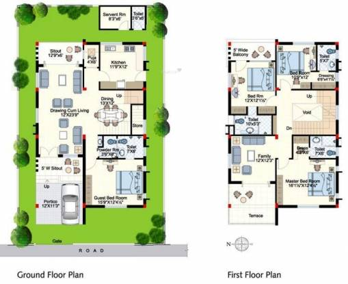 Indu Fortune Fields Villas (4BHK+4T (2,940 sq ft)   Servant Room Villa 2940 sq ft)