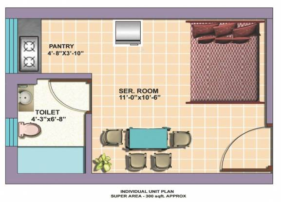 Omaxe Service Personnel Apartments (1BHK+1T (300 sq ft) Apartment 300 sq ft)