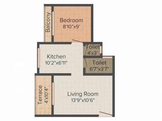 Bonzer Celebrations (1BHK+1T (571 sq ft) Apartment 571 sq ft)