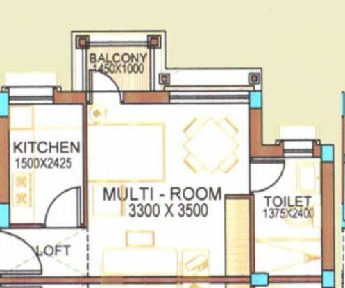 Peerless Punnya Brajadham (1BHK+1T (338 sq ft) Apartment 338 sq ft)