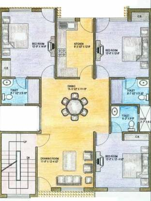 Ardee Platinum Greens (3BHK+3T (1,325 sq ft) Apartment 1325 sq ft)