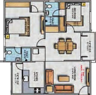 LVS Excellency (2BHK+2T (1,190 sq ft) Apartment 1190 sq ft)