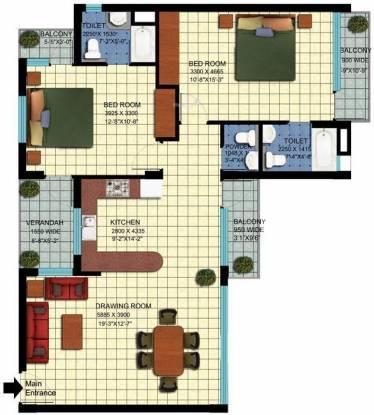 Achievers Status Enclave (2BHK+2T (1,400 sq ft) Apartment 1400 sq ft)