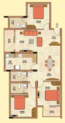 Tanzeel Chalet (3BHK+3T (1,557 sq ft) Apartment 1557 sq ft)