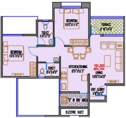 Magnus Simpli City Phase II (2BHK+2T (873 sq ft) Apartment 873 sq ft)