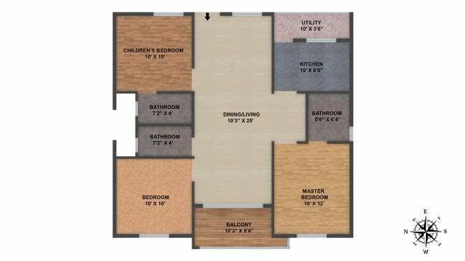 Janapriya Classic Homes (3BHK+3T (1,125 sq ft) Apartment 1125 sq ft)