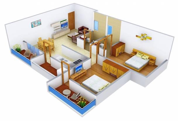 Innovative Aqua Front (2BHK+2T (1,190 sq ft) Apartment 1190 sq ft)