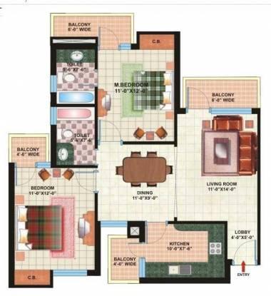Pardesi Ushay Tower (2BHK+2T (1,212 sq ft) Apartment 1212 sq ft)