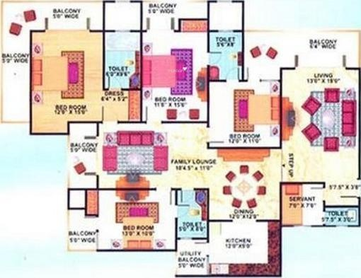 Mahagun Mansion Phase 1 and 2 Mahagun Mansion Phase 1 and 2 (4BHK+4T)