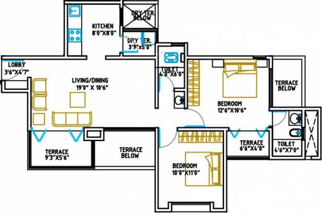Shree Mi Casa (2BHK+2T (932 sq ft) Apartment 932 sq ft)