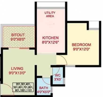 Nanded Mangal Bhairav (1BHK+1T (550 sq ft) Apartment 550 sq ft)