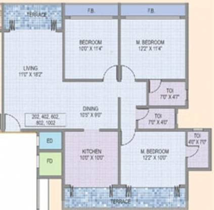 Konnark Shree Krishna Paradise (3BHK+3T (1,760 sq ft) Apartment 1760 sq ft)