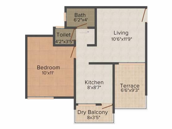 Dreams Camellia (1BHK+1T (471 sq ft) Apartment 471 sq ft)