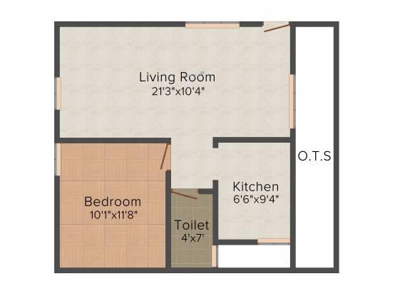Pragathi Royale II (1BHK+1T (630 sq ft) Apartment 630 sq ft)