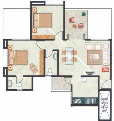 Gemini Park Avenue (2BHK+2T (940 sq ft) Apartment 940 sq ft)