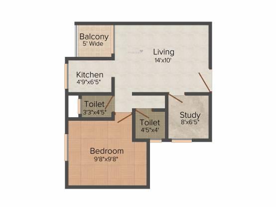 Plaza Pristine Acres Phase 2 (1BHK+1T (570 sq ft) Apartment 570 sq ft)