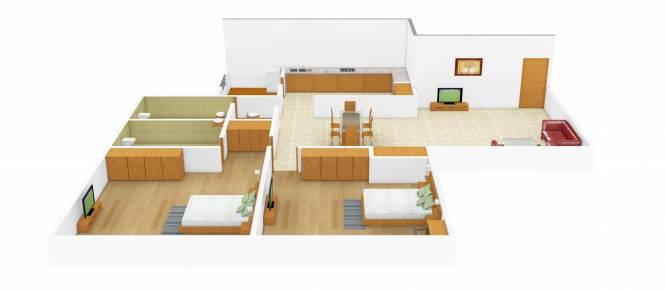 Sterling Bhandari (2BHK+2T (975 sq ft) Apartment 975 sq ft)