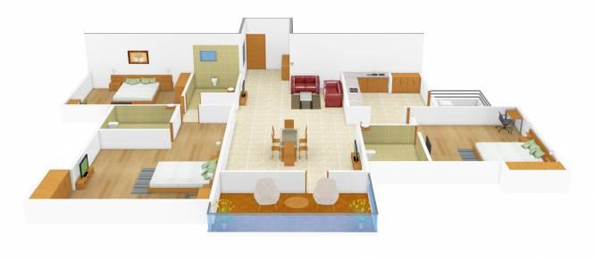 Sterling Bhandari (3BHK+3T (1,398 sq ft) Apartment 1398 sq ft)