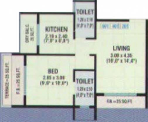 Mahr Shree Ganesh Krupa (1BHK+2T (657 sq ft) Apartment 657 sq ft)