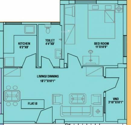 Jain Dream Park (1BHK+1T (665 sq ft) Apartment 665 sq ft)