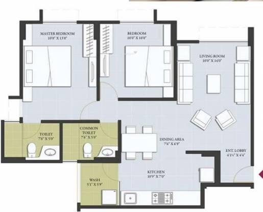 Bsafal Parishkaar (2BHK+2T (1,027 sq ft) Apartment 1027 sq ft)