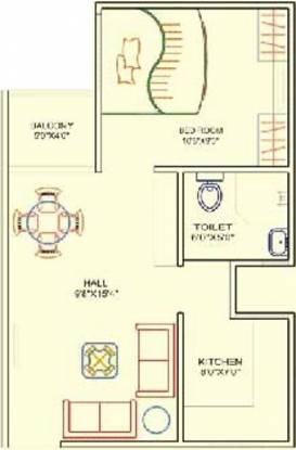 Gyansheela Super City (1BHK+1T (541 sq ft) Apartment 541 sq ft)