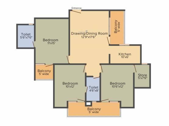 Star Realcon Group Rameshwaram (3BHK+2T (1,430 sq ft) Apartment 1430 sq ft)