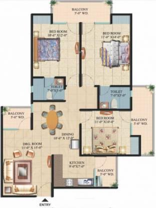 Ajnara Integrity (3BHK+2T (1,450 sq ft) Apartment 1450 sq ft)