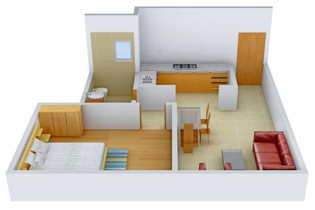 Aakruti Amity (1BHK+1T (675 sq ft) Apartment 675 sq ft)
