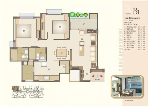 Venus Parkland (2BHK+2T (1,215 sq ft) Apartment 1215 sq ft)