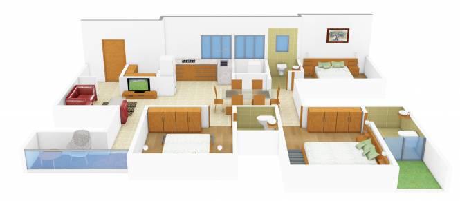 Gala Swing (3BHK+3T (1,860 sq ft)   Pooja Room Apartment 1860 sq ft)
