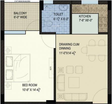 SBP North Valley (1BHK+1T (770 sq ft) Apartment 770 sq ft)