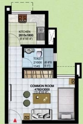 Ansal Sushant Media Enclave (1BHK+1T (465 sq ft) Apartment 465 sq ft)