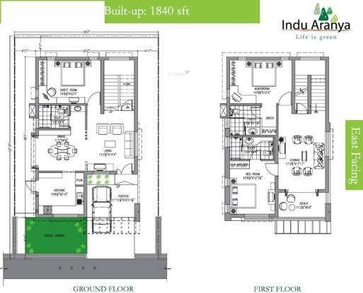Indus Indu Aranya Villas (3BHK+3T (1,840 sq ft) Villa 1840 sq ft)