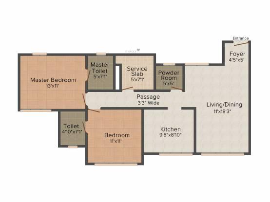 Arya Arya Residency (2BHK+2T (1,220 sq ft) Apartment 1220 sq ft)