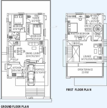 Prajay Waterfront City (3BHK+3T (1,523 sq ft) Villa 1523 sq ft)